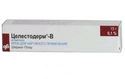 Целестодерм-В с гарамицином, крем д/наружн. прим. 0.1% 15 г №1