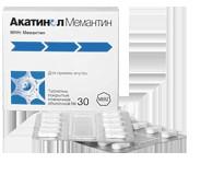 Акатинол Мемантин, табл. п/о пленочной 10 мг №90
